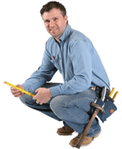 image of leicester handy man crouching