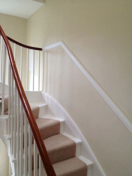 stairs and hallway painting and decoration example image for homefix handyman in notts