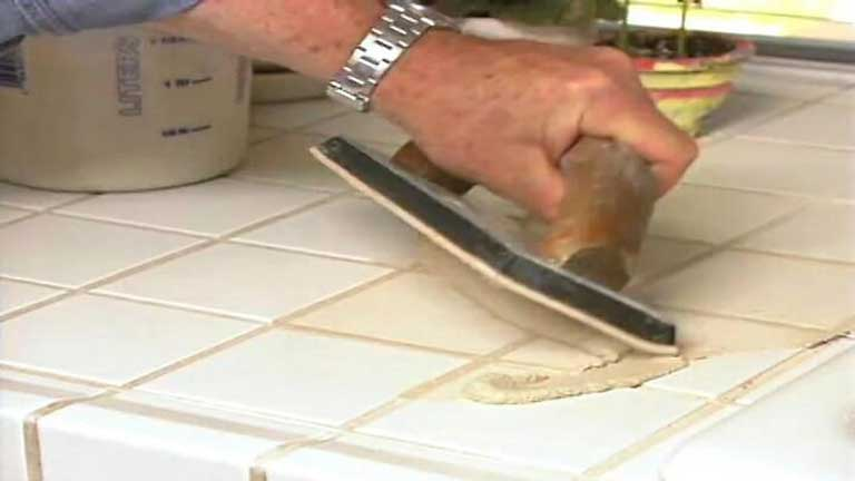 How to paint ceramic tile countertops