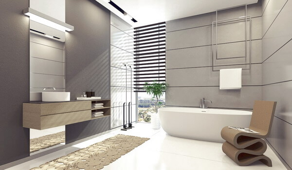 fair-brown-chair-modern-bathroom-shower-tile-designs